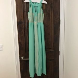 Lovely, light turquoise, full length /maxi dress